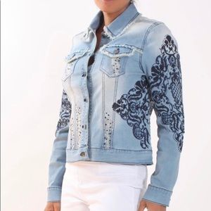 AZI embellished beaded Jean jacket